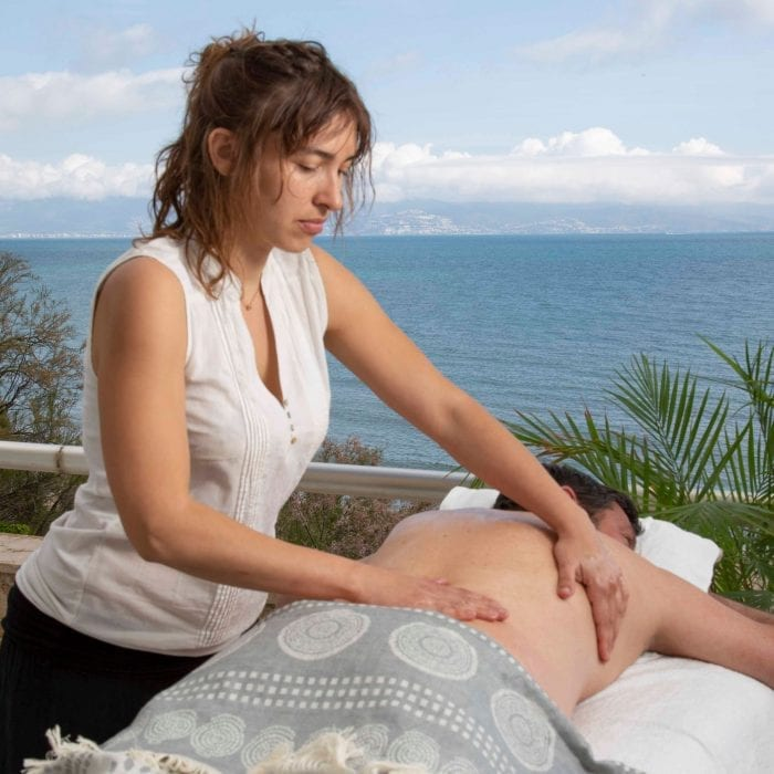masaje frente al mar